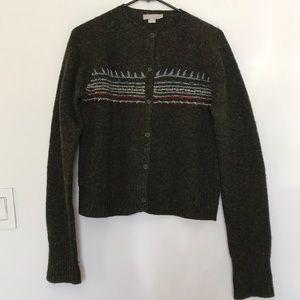 Jcrew Lambswool cardigan sweater